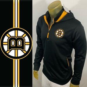 Boston Bruins 1/4 ZIP Hoodie Pullovers